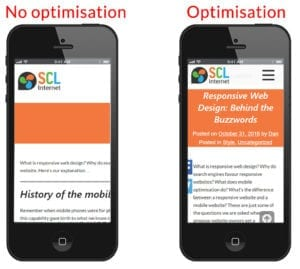 optimised vs non-optimised website