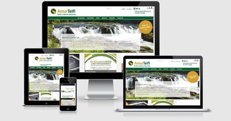 Antur Teifi responsive website image