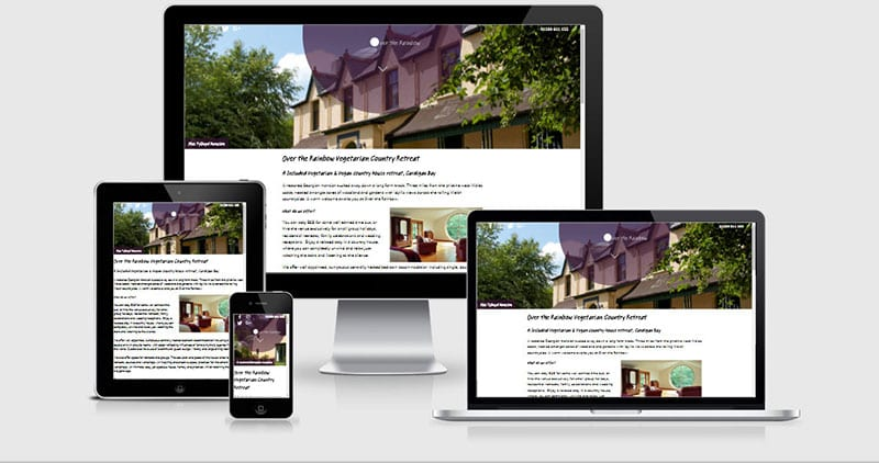 Over the Rainbow Wales Responsive website image