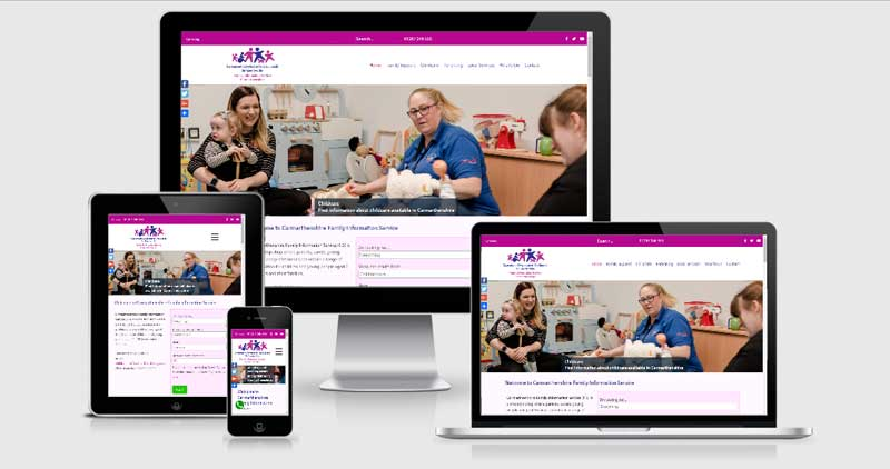 Carmarthenshire Family Information Service Responsive